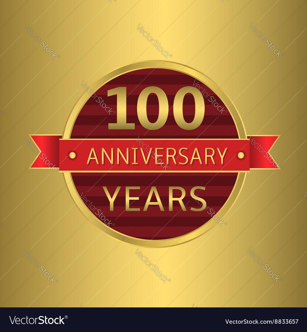 Anniversary 100 years