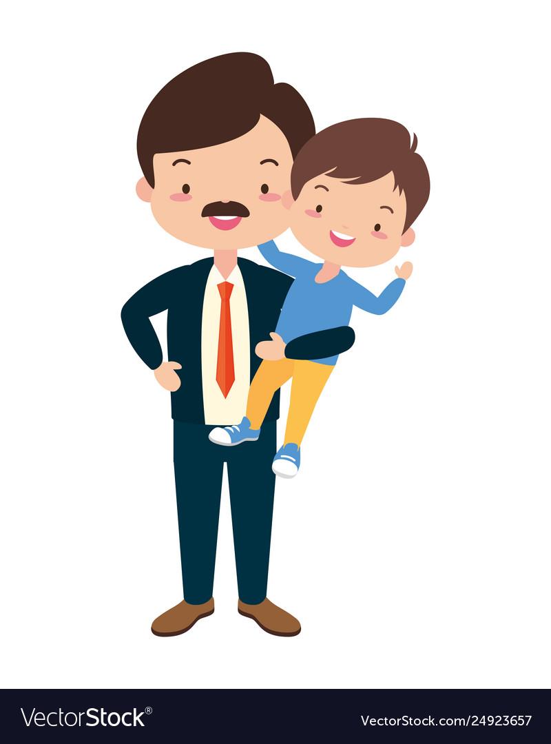 Dad and son Royalty Free Vector Image - VectorStock