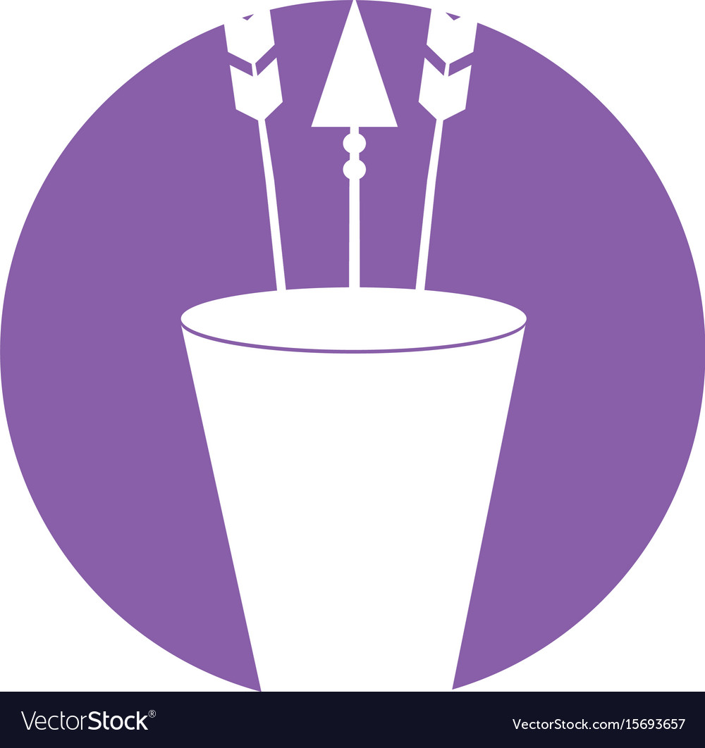 Decorative arrows in cup boho style vector image
