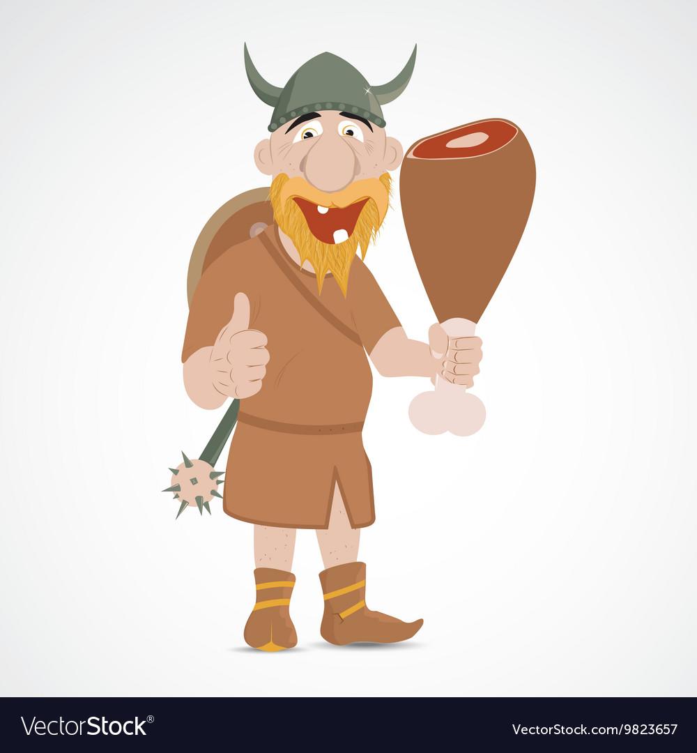 Funny cartoon viking