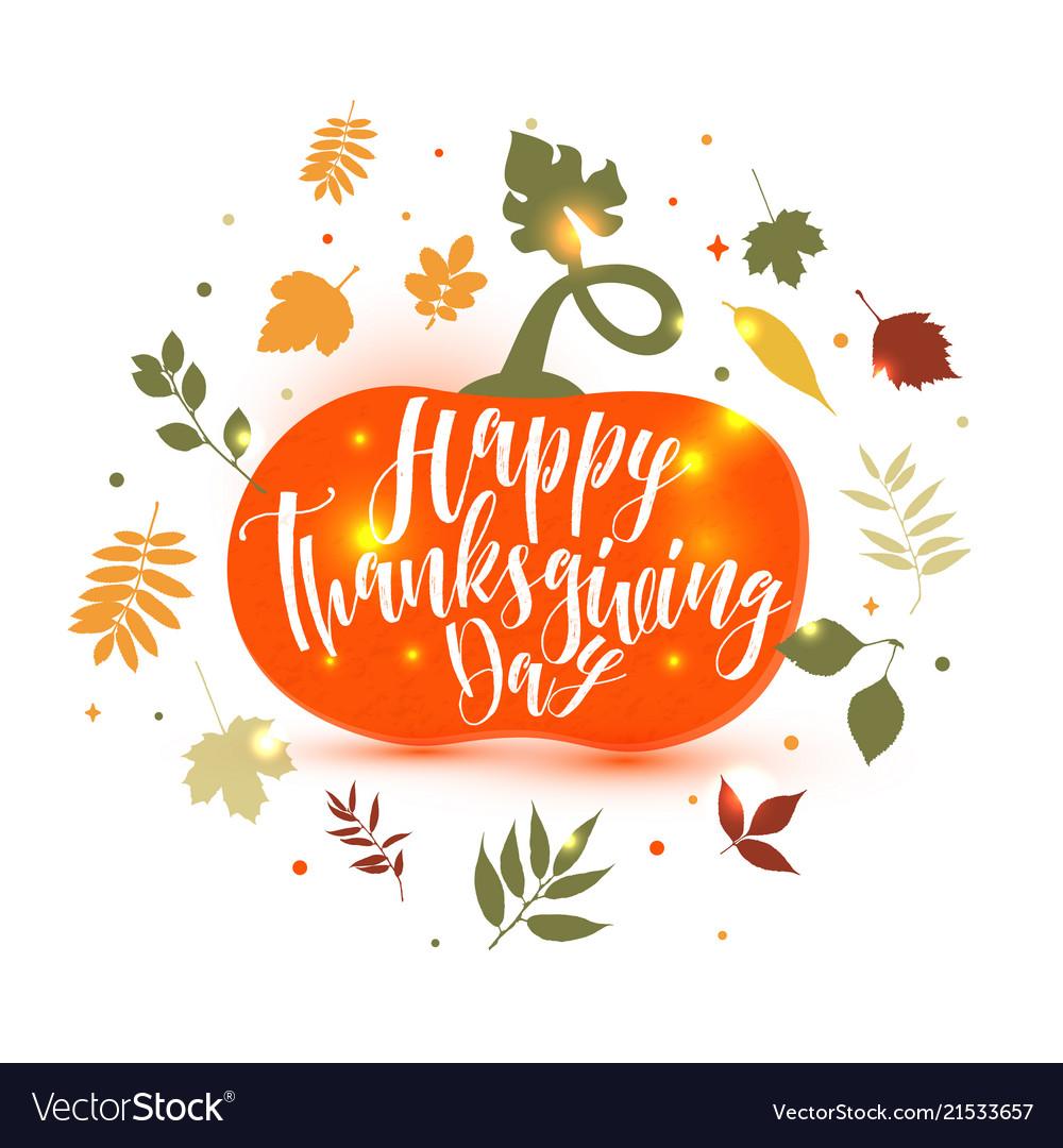 Happy thanksgiving pumpkin icon fall