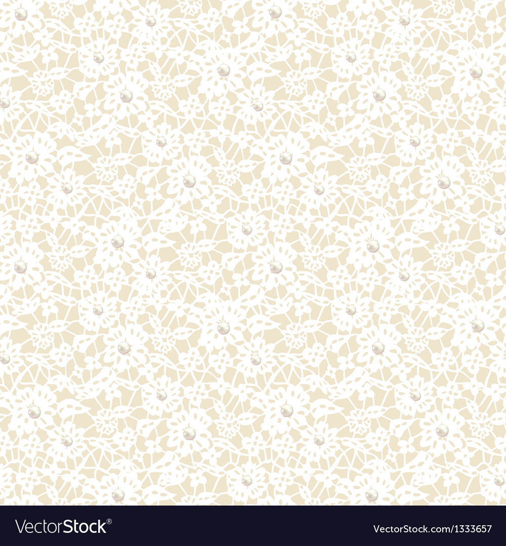 Lace pattern with pearls vector image