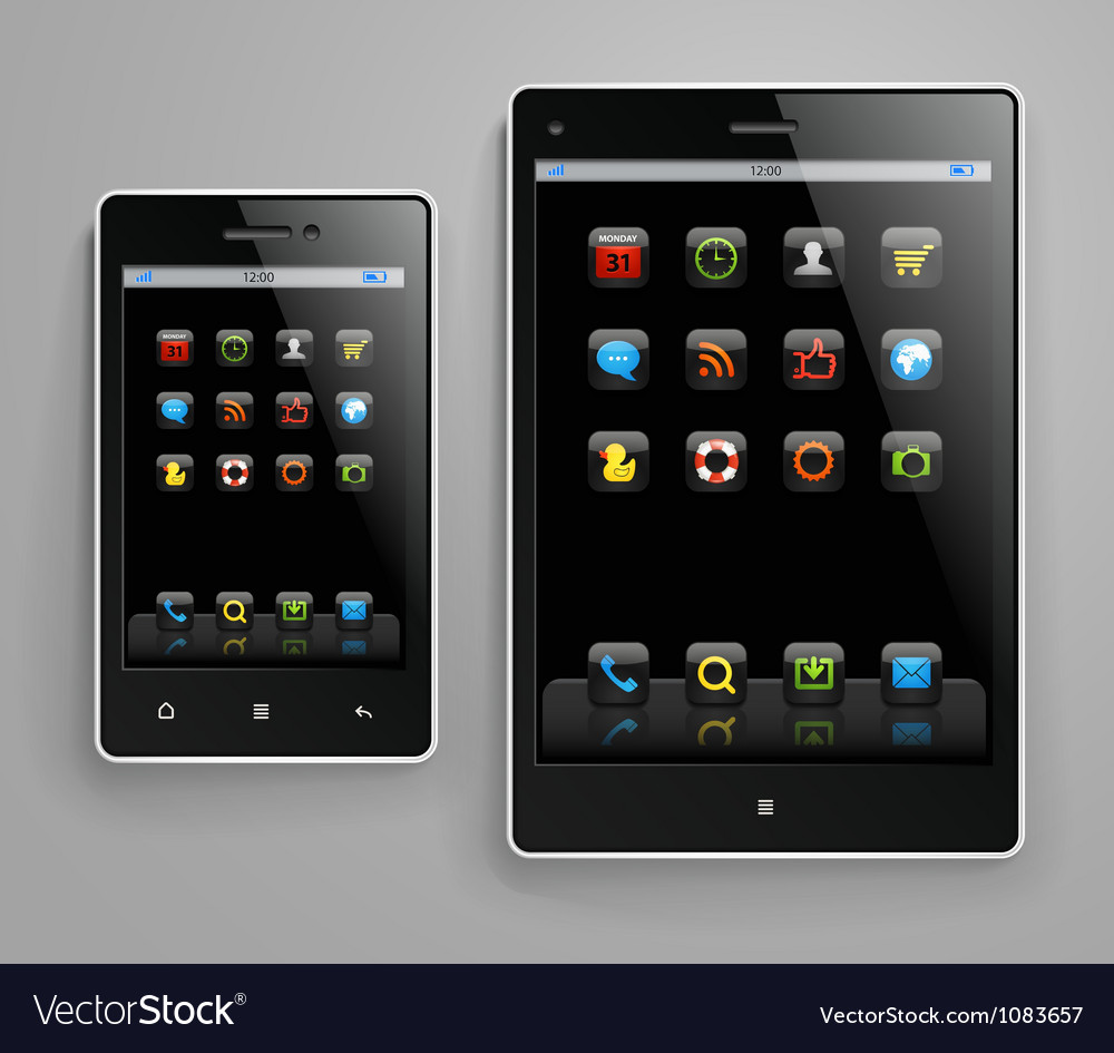 Modern gadgets vector image