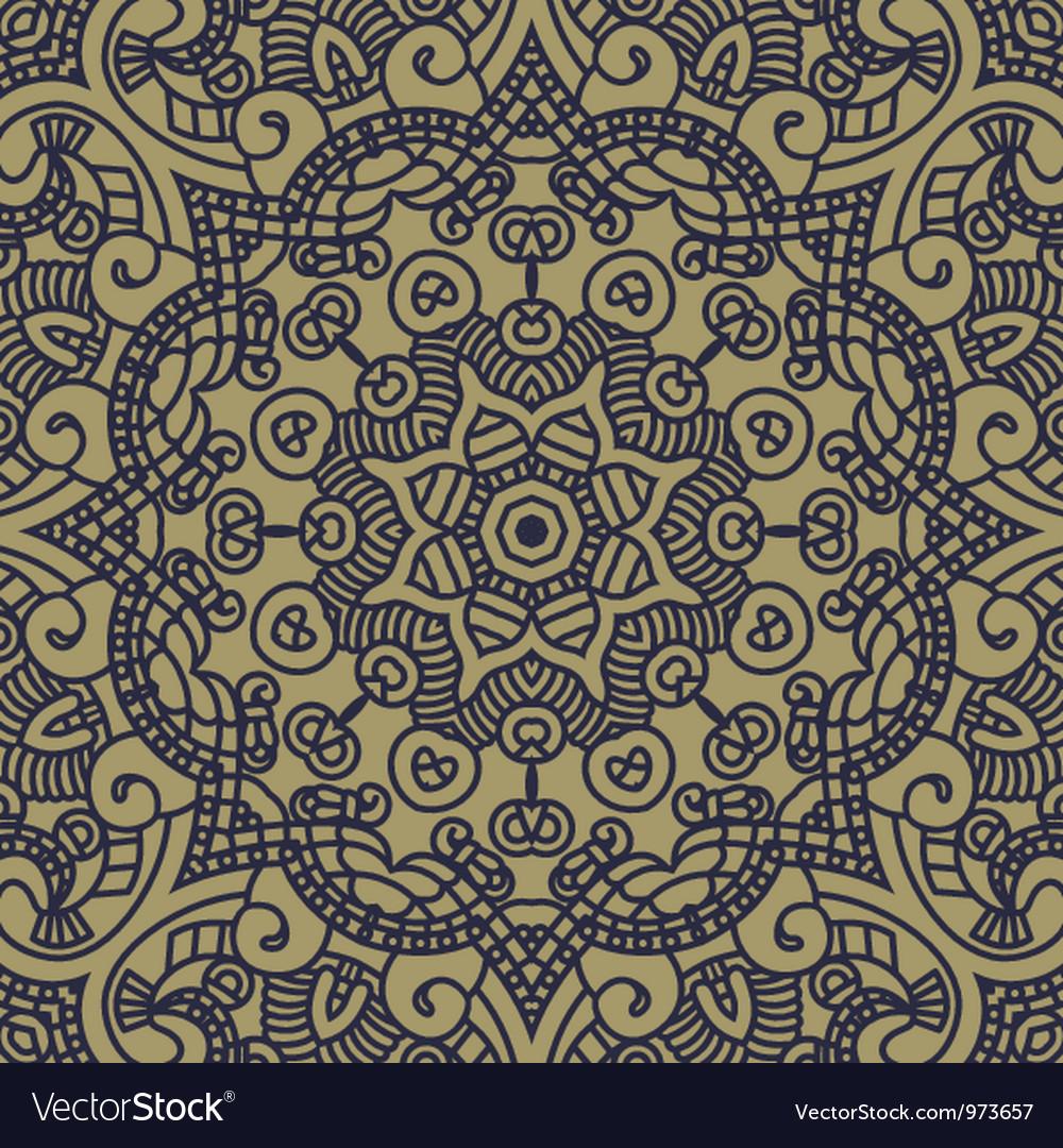 Ornamental pattern vector image