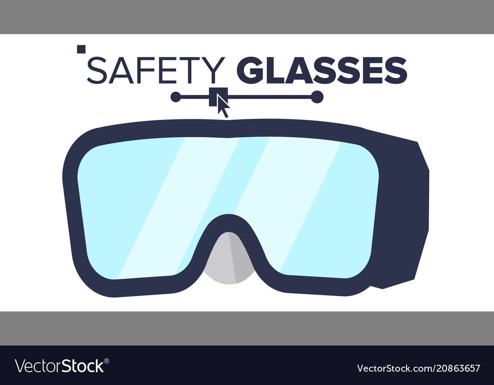 Safety glasses industrial glasses icon