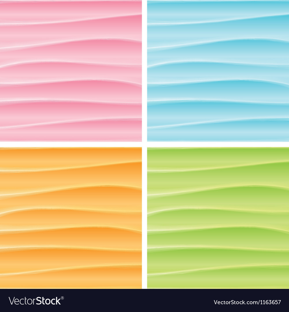 Set of Abstract Wavy Backgrounds Graphics