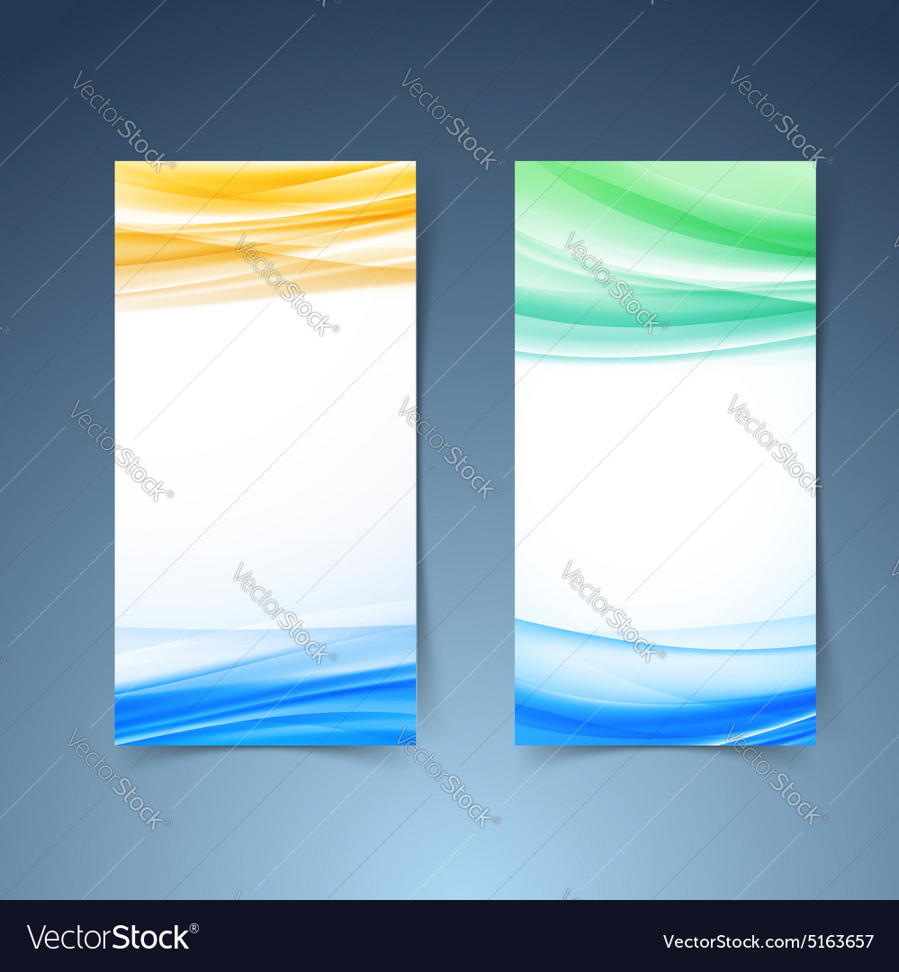 Smooth modern abstract vertical card collection vector image