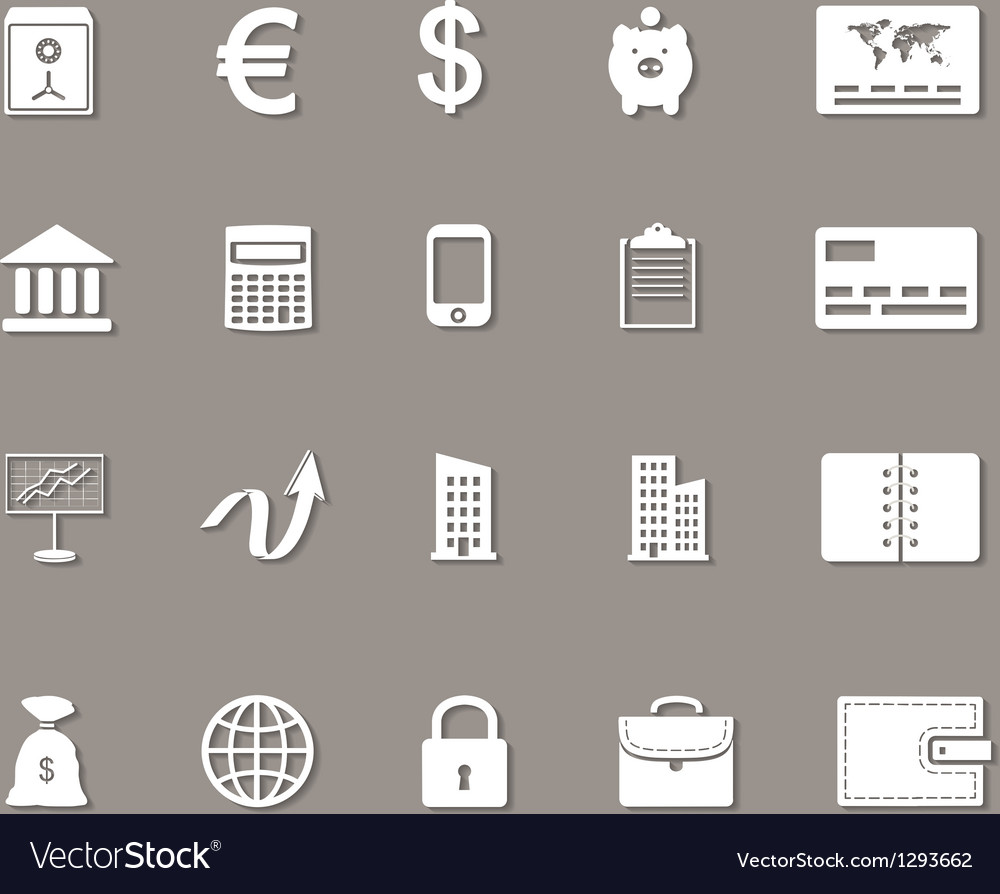 Business money and finance web icons set