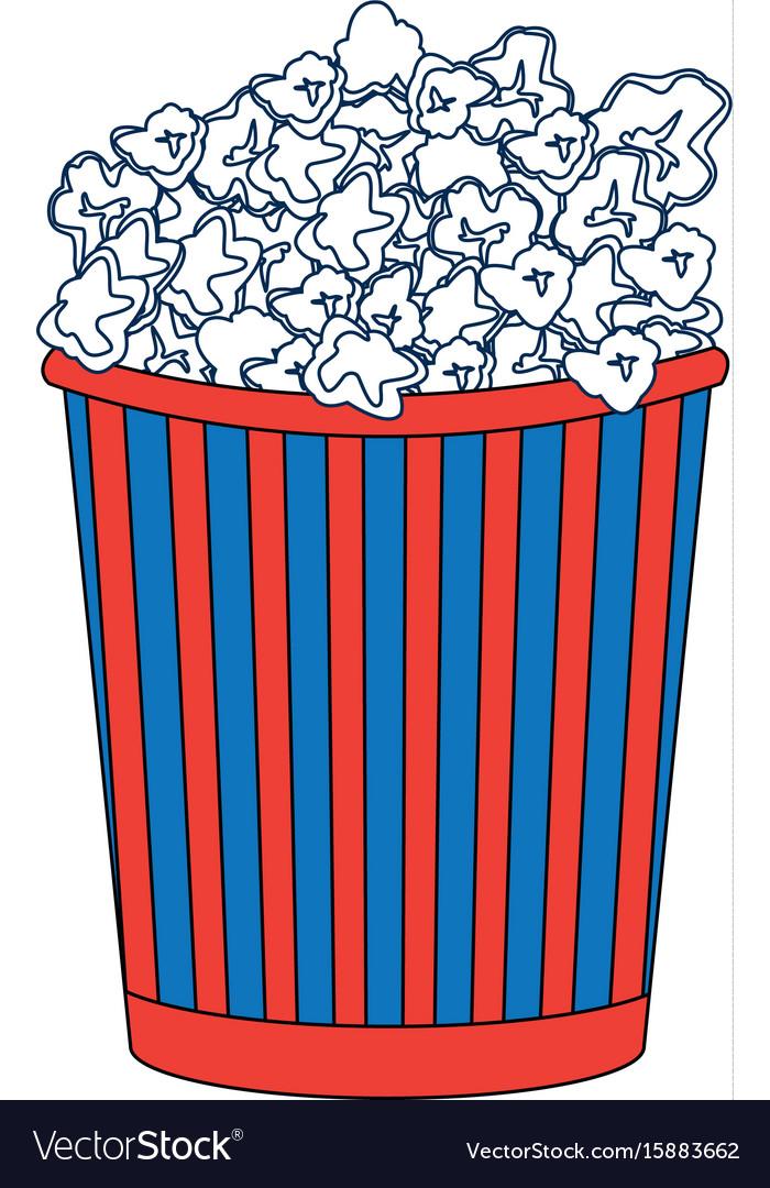 Cinema cardboard striped popcorn snack bucket