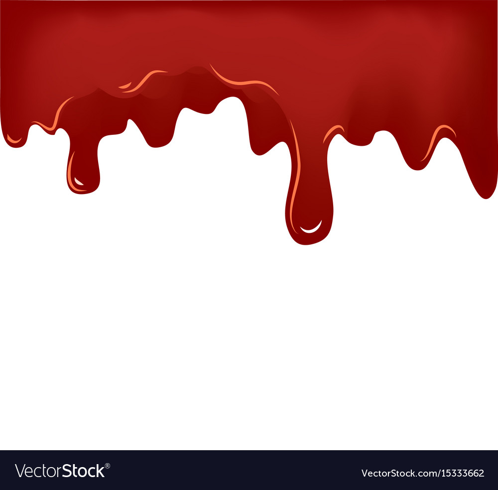 Flowing blood on white background