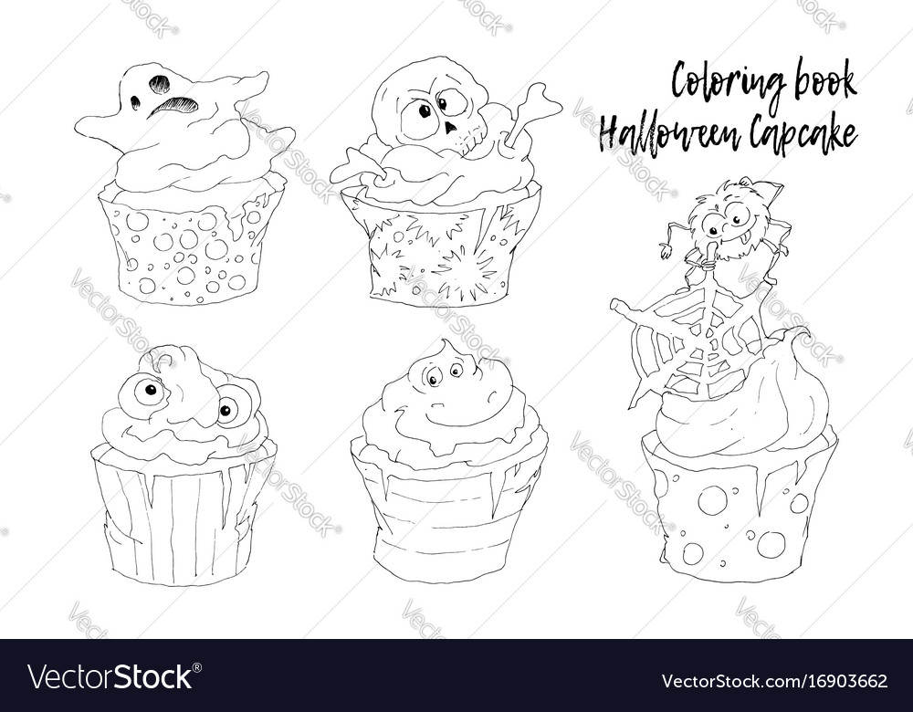 Halloween objects set