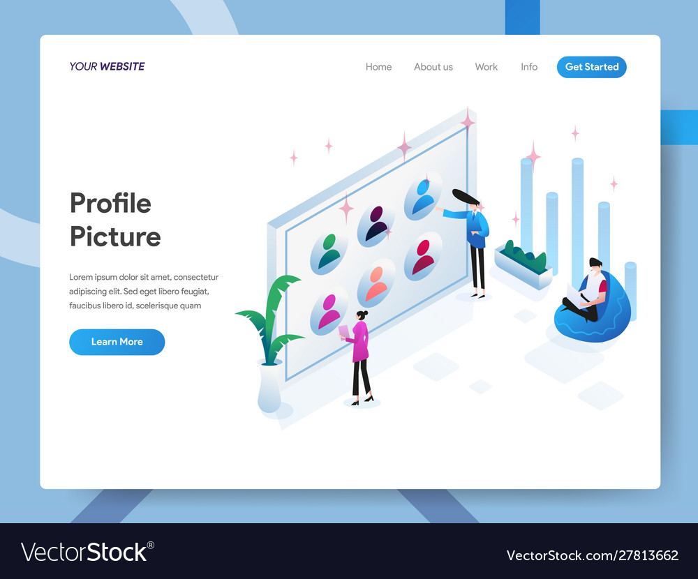 Landing page template profile picture