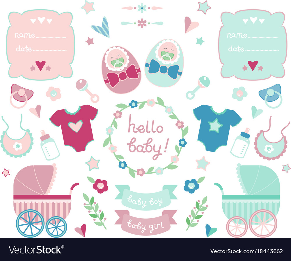 Newborn collection vector image