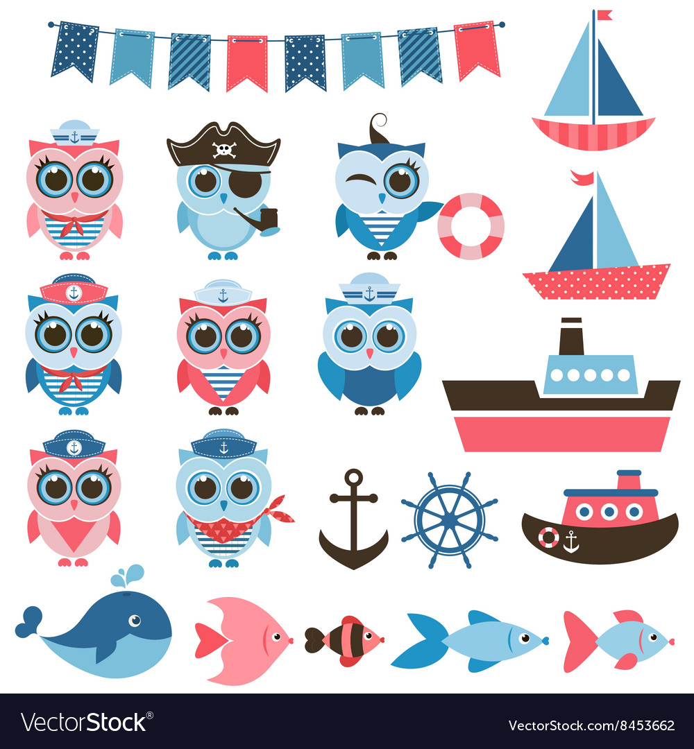 Sailor owls fish and water transport