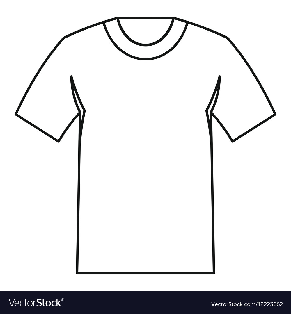 Tshirt icon outline style