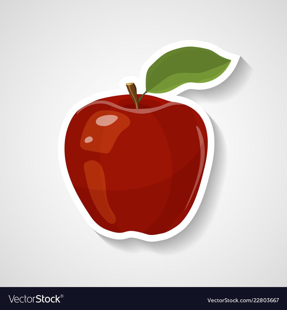 Apple sticker cartoon sticker