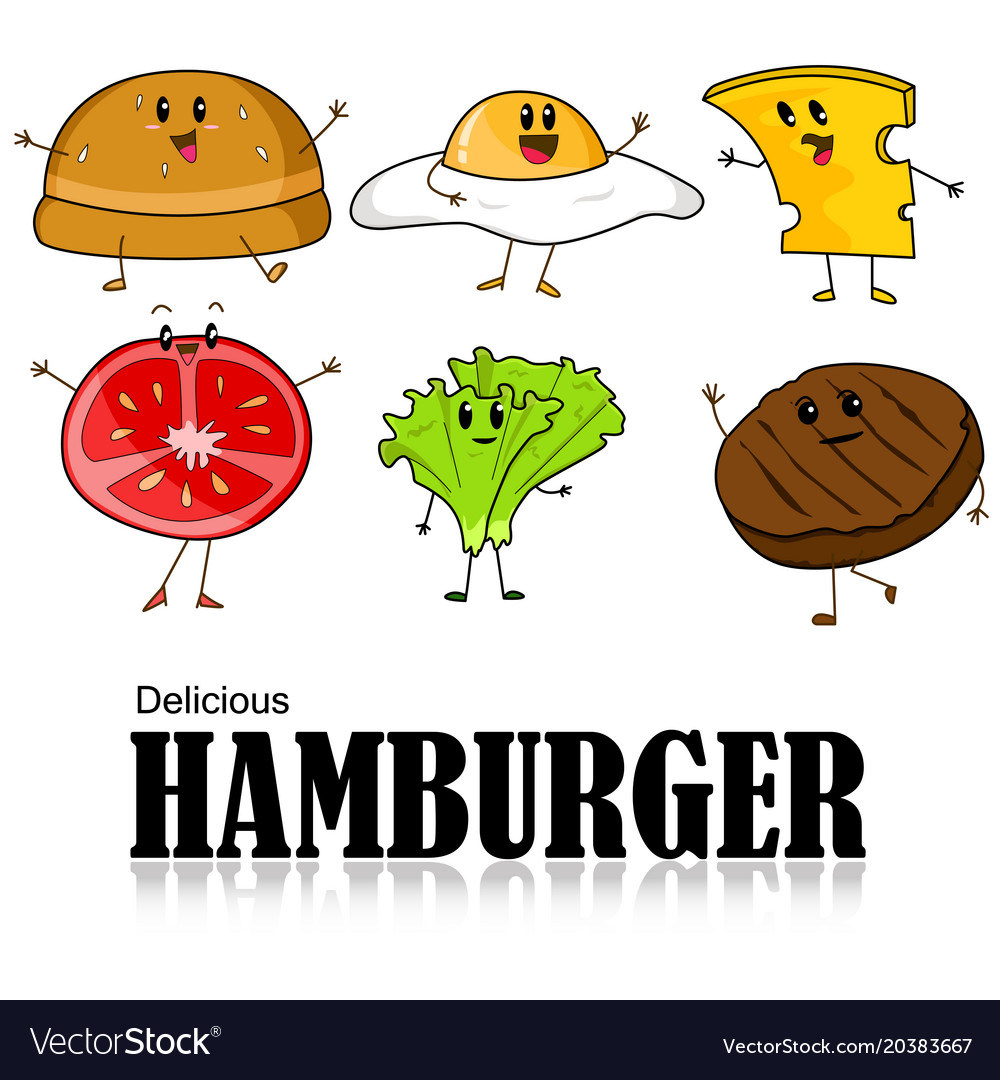 Cartoon of hamburger