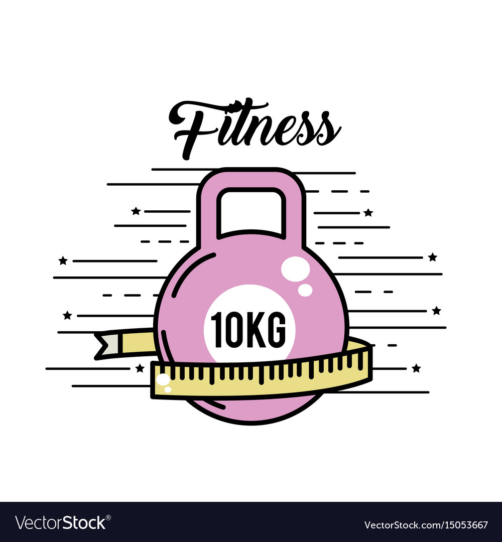 Dumbbell with meter to healthy lifestyle vector image