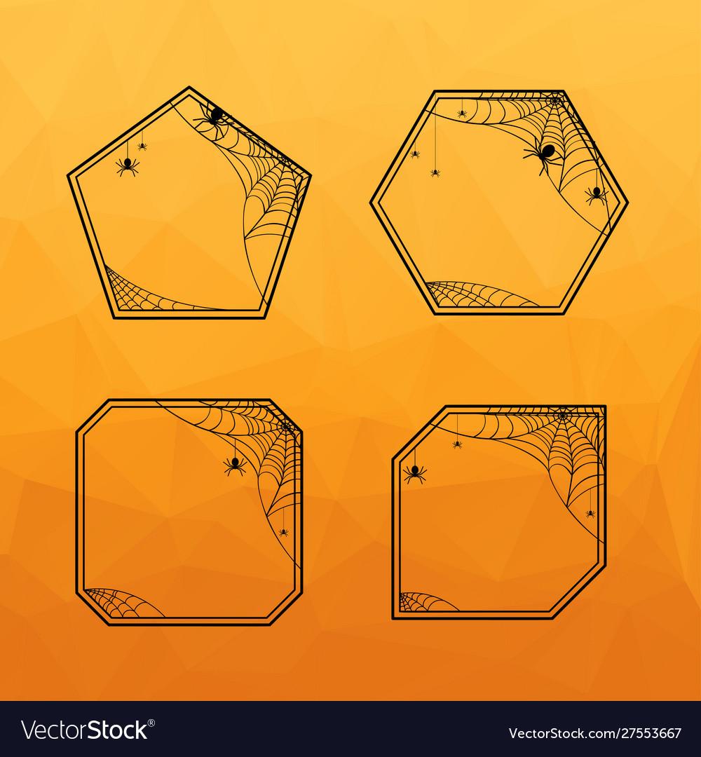 Halloween geometric frames