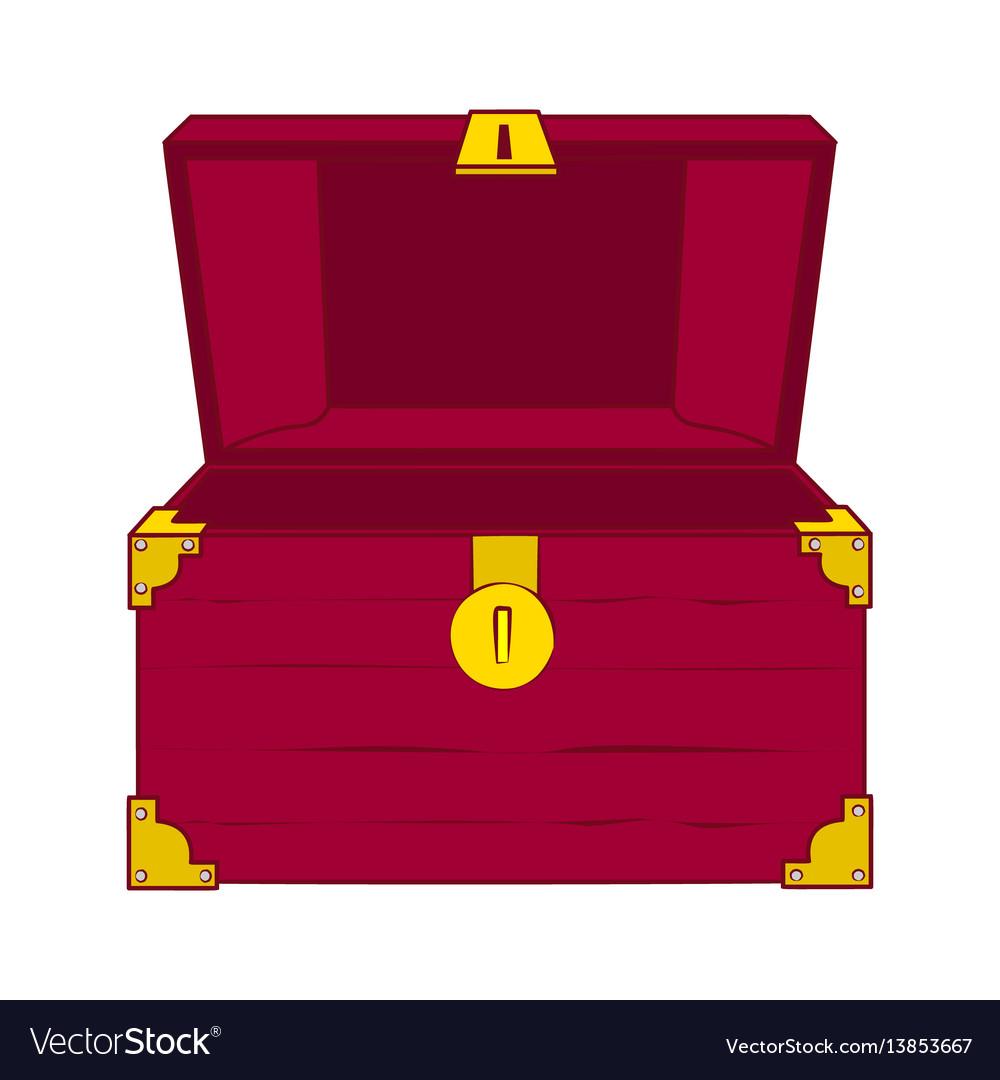 Open empty treasure chest vector image