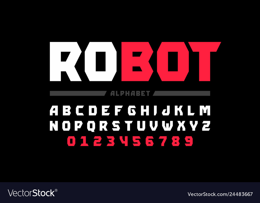 Tehnology style font