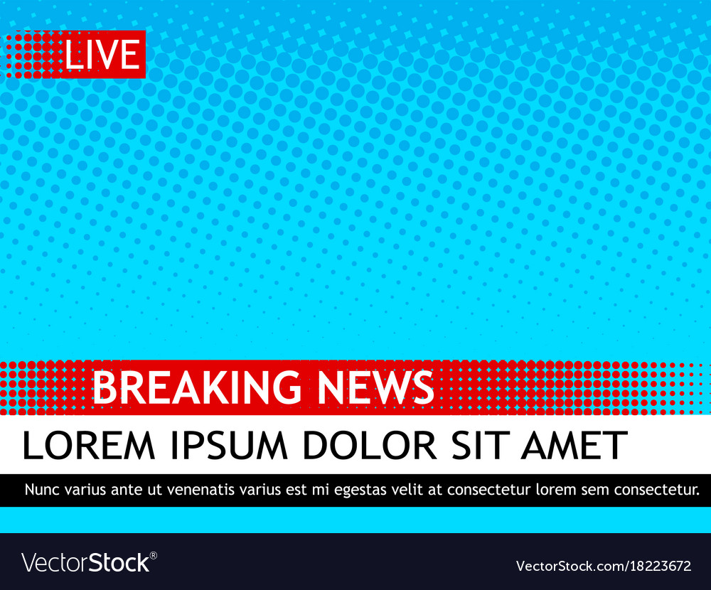 breaking news template pop art royalty free vector image