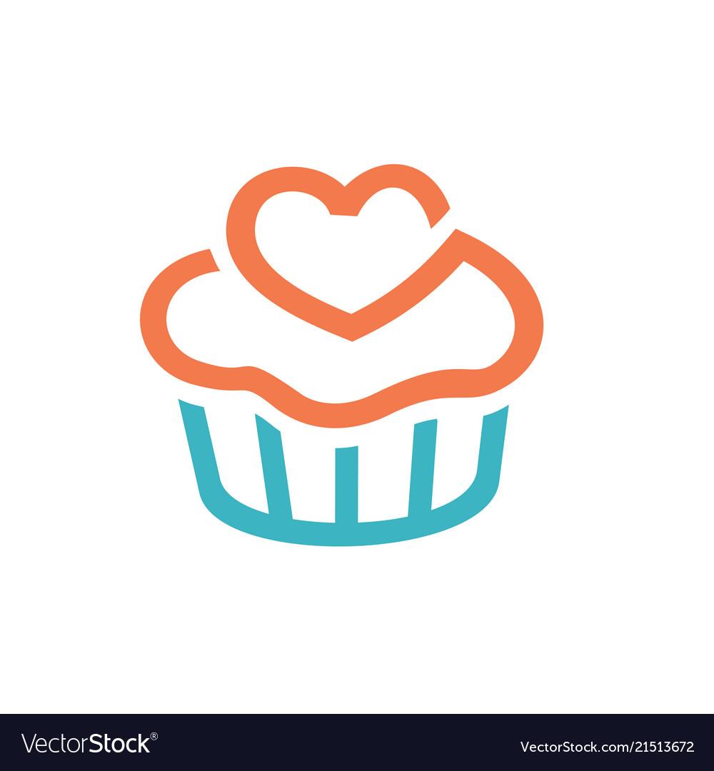 Cupcakes icon logo design