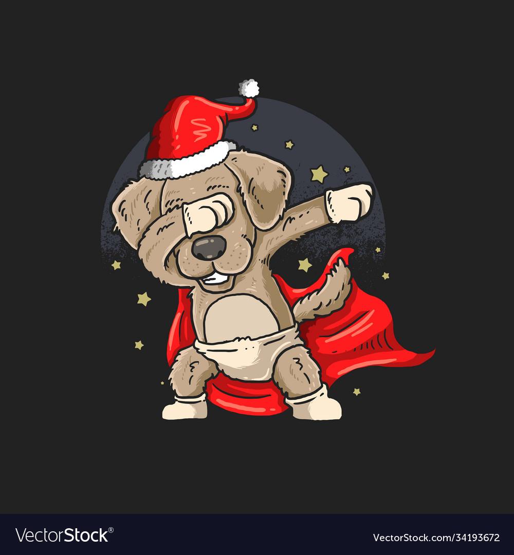 Cute pug dabbing dance graphic