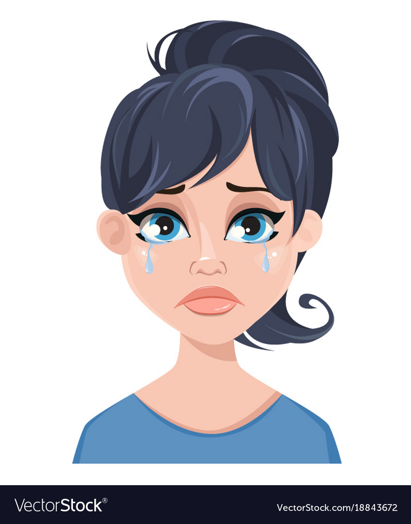 Facial expression of a woman - crying