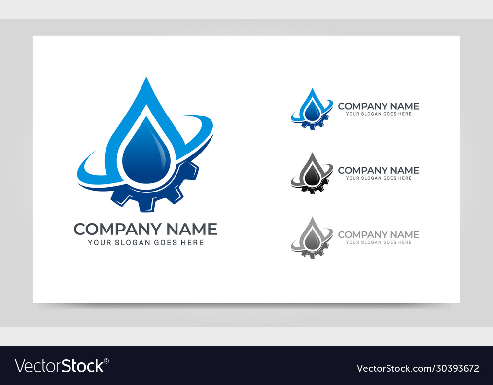 Fire gas and gear combination logo design