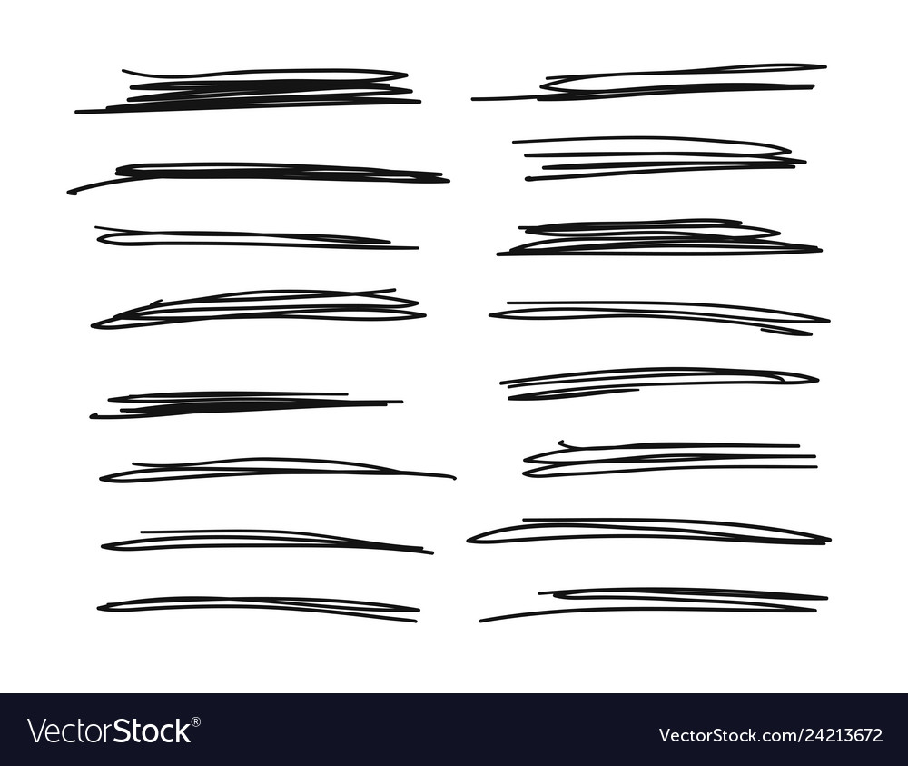 Hand drawn set of objects for design use black