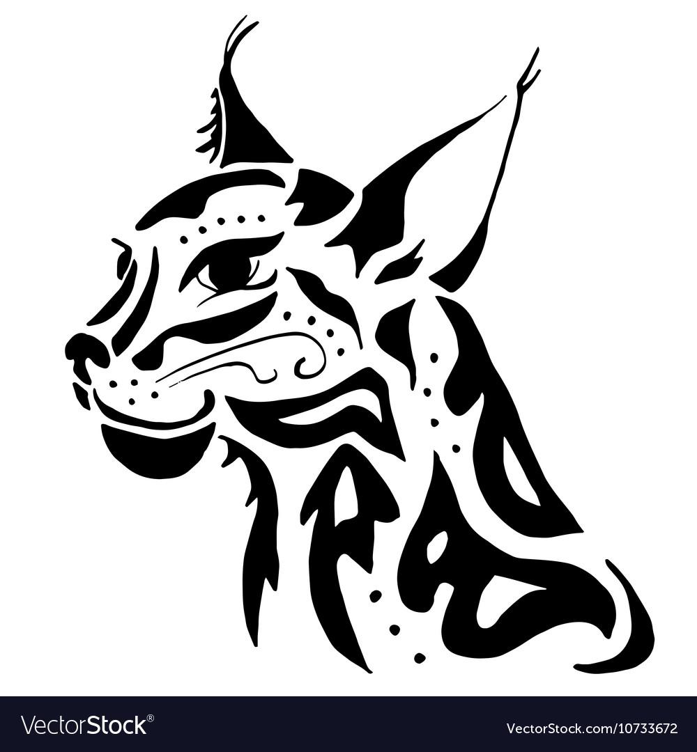 High quality lynx head tattoo