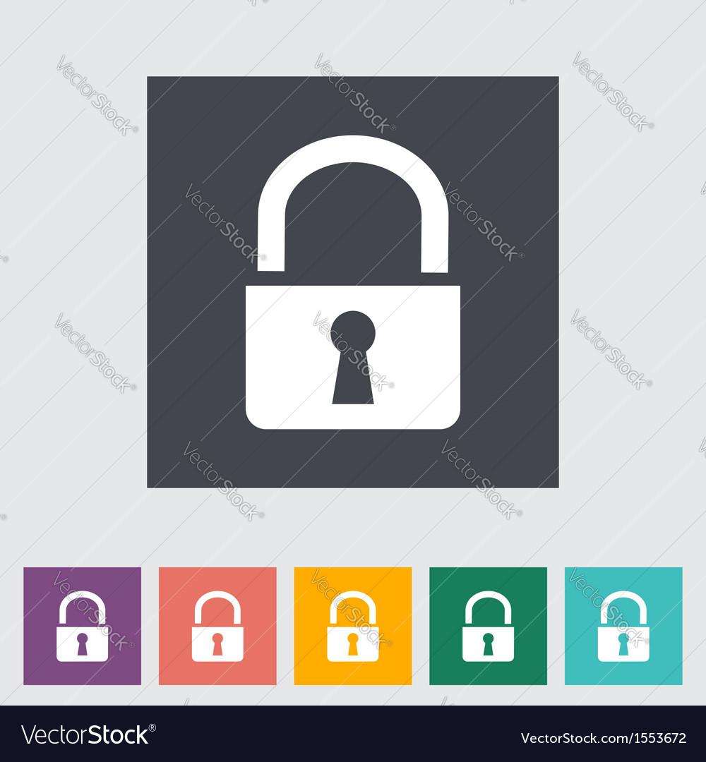 Lock single icon