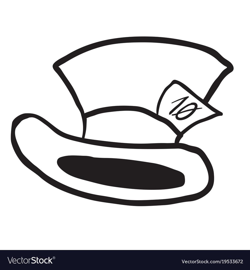 Mad hatters hat black