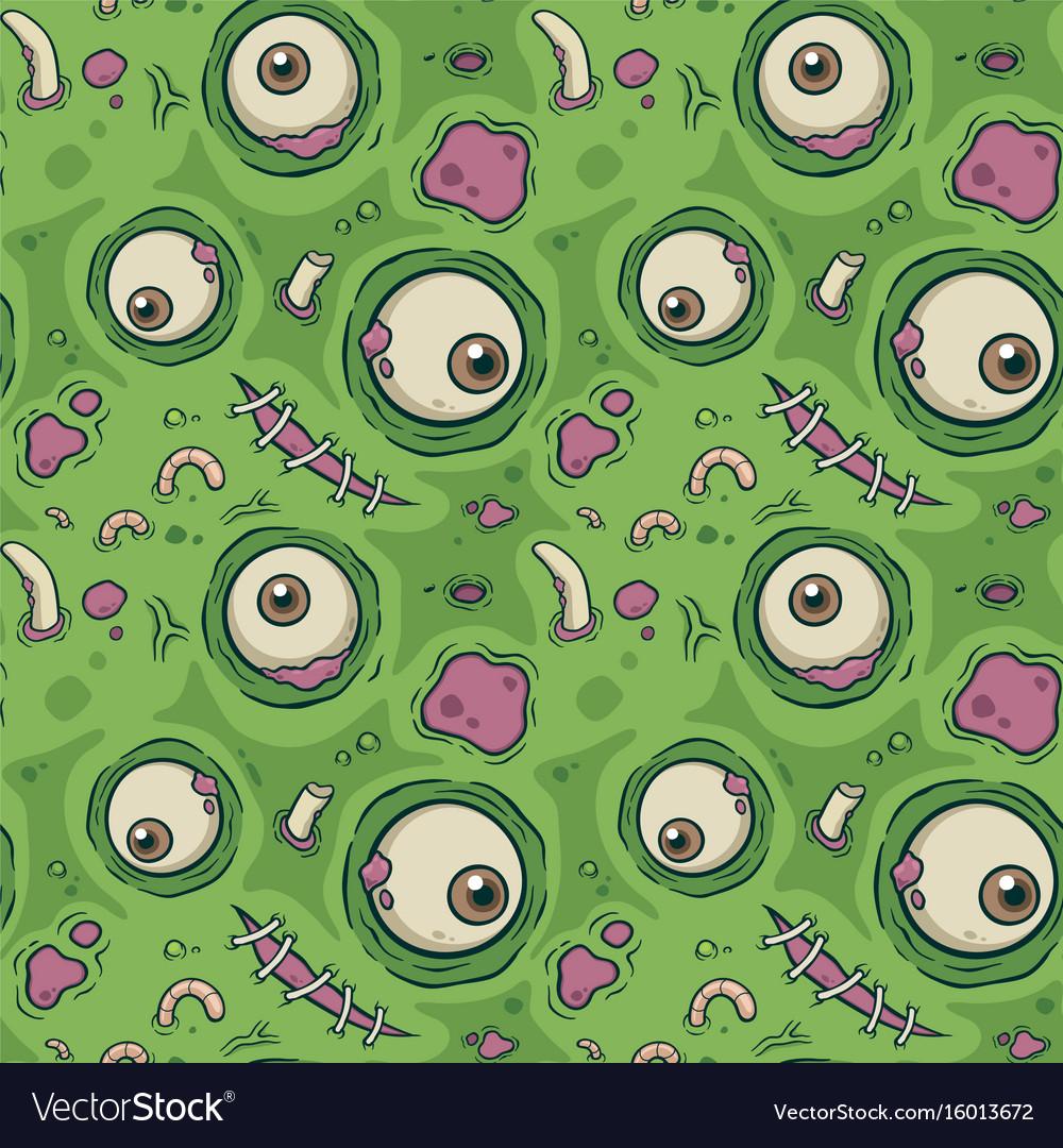 Seamless pattern zombie