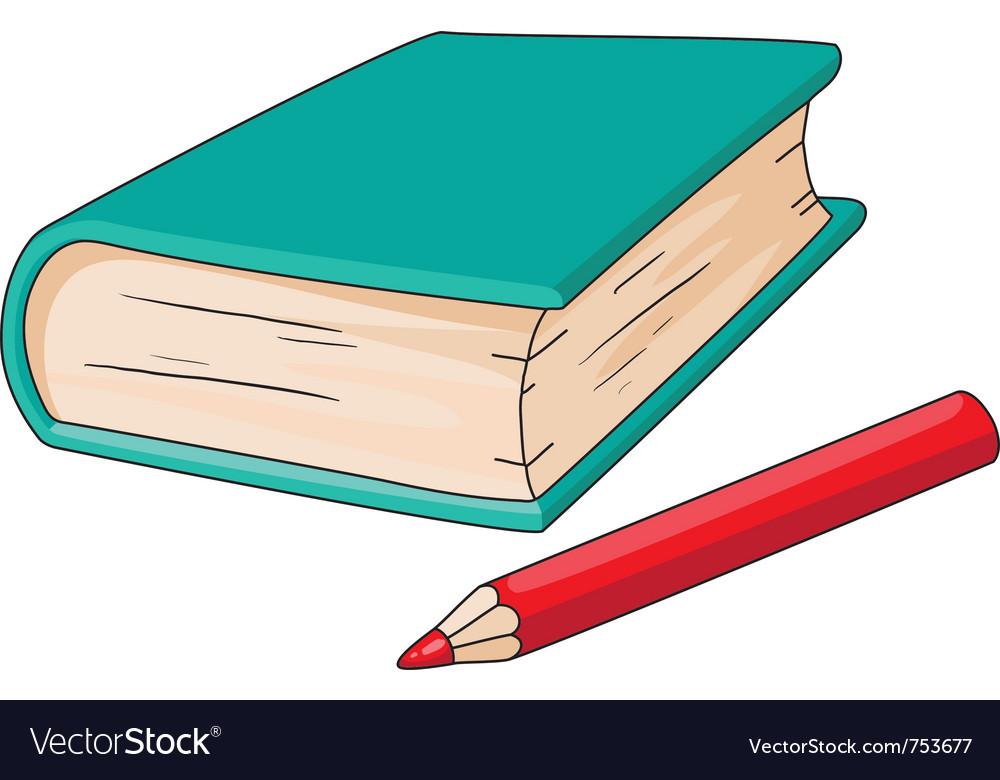 book and pencil royalty free vector image vectorstock