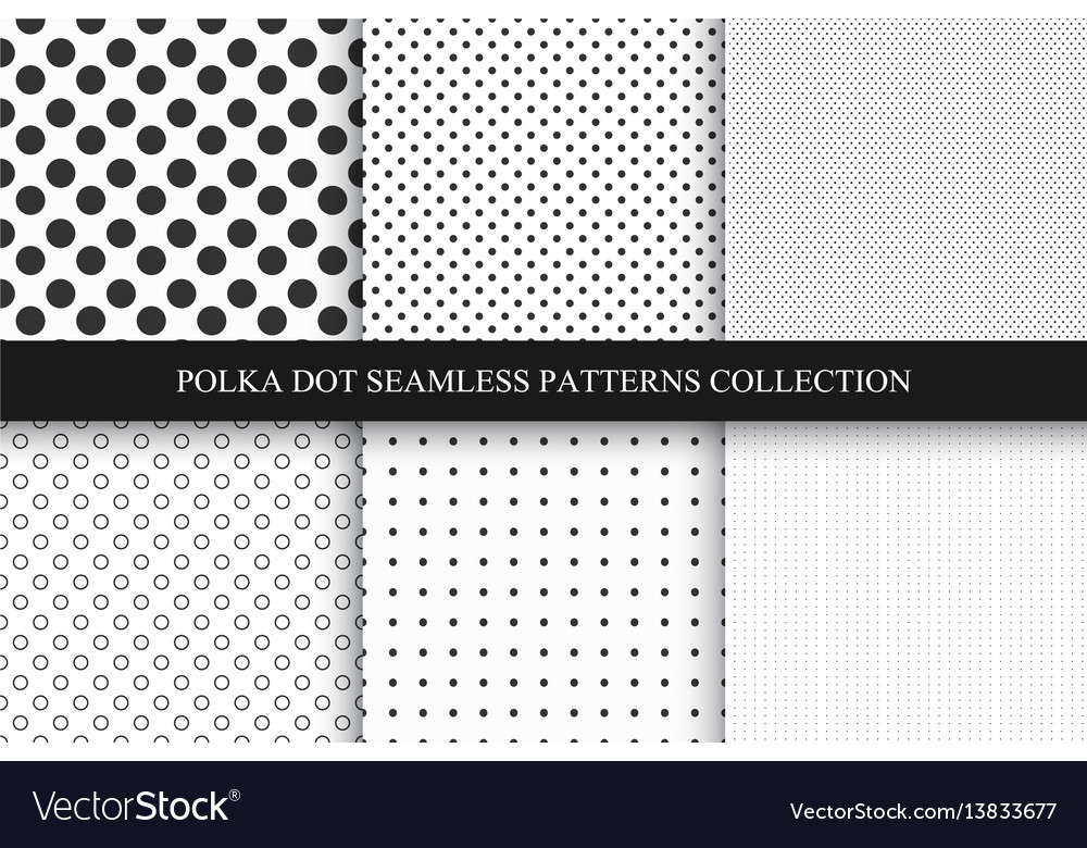 Collection of seamless dots patterns polka dot