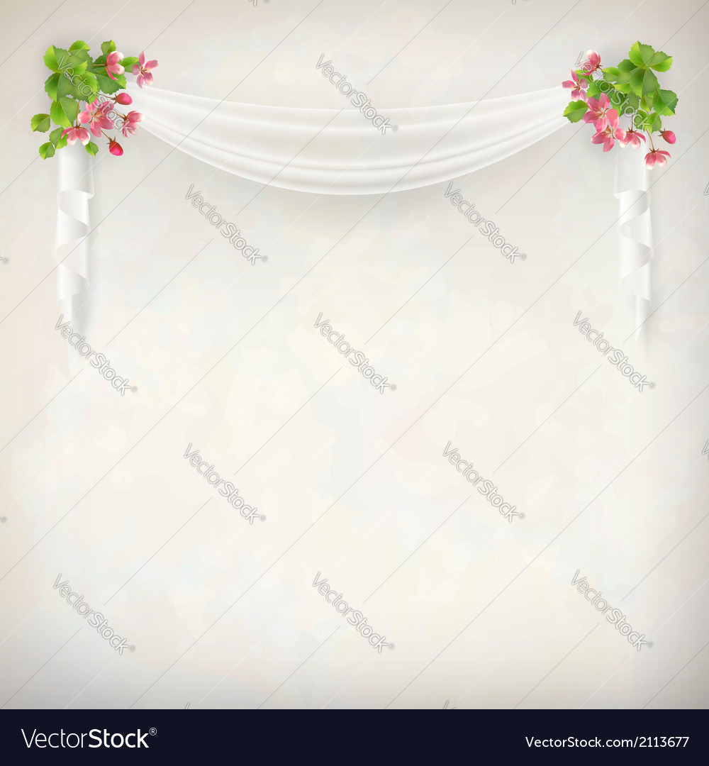 floral vintage wedding background royalty free vector image vectorstock