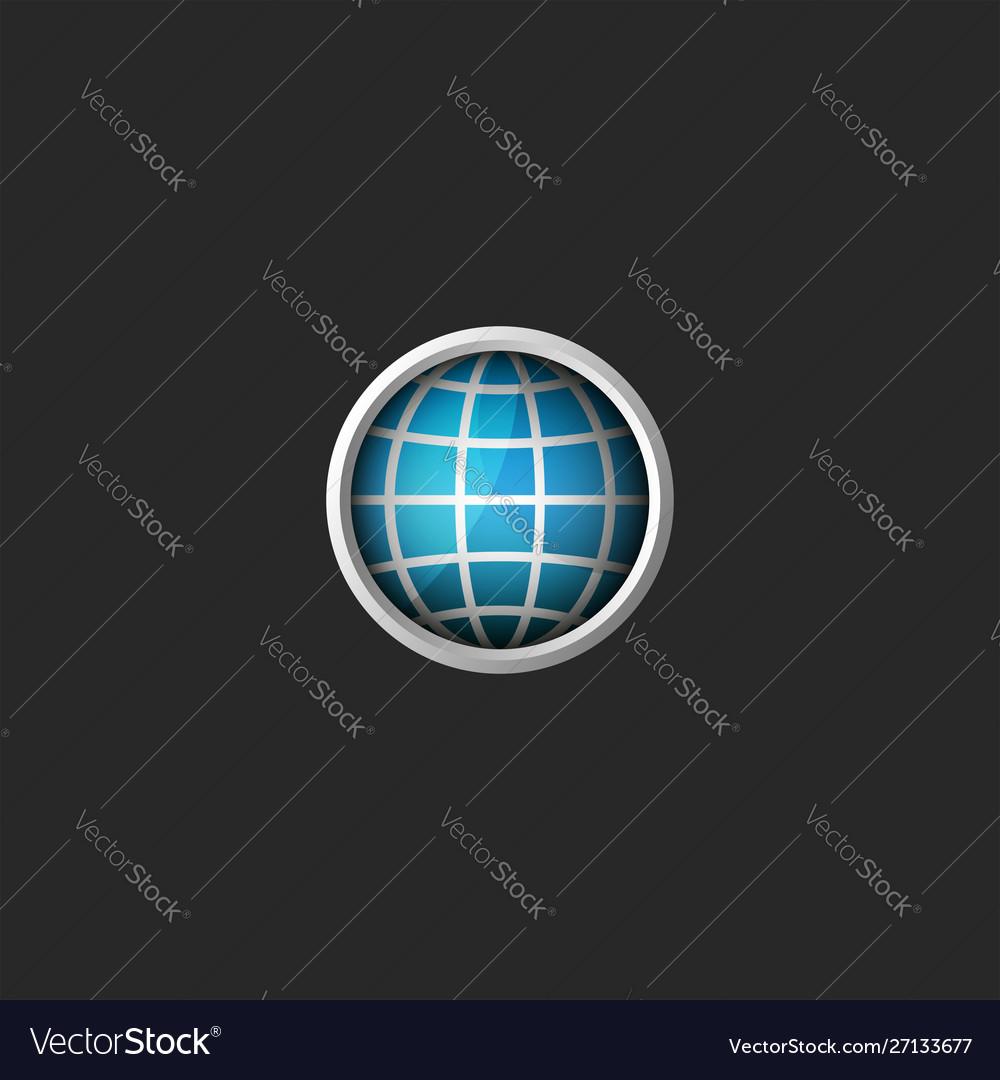 Globe logo 3d creative abstract blue planet icon