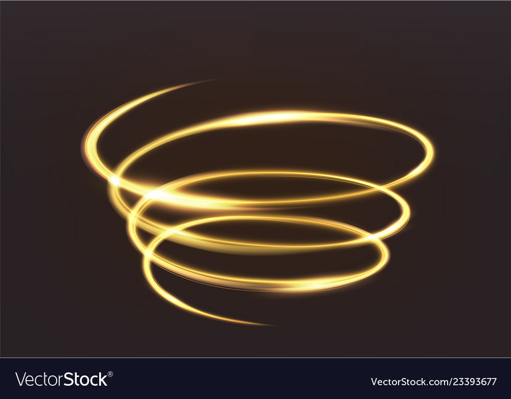 Golden glowing light the magic brilliance of