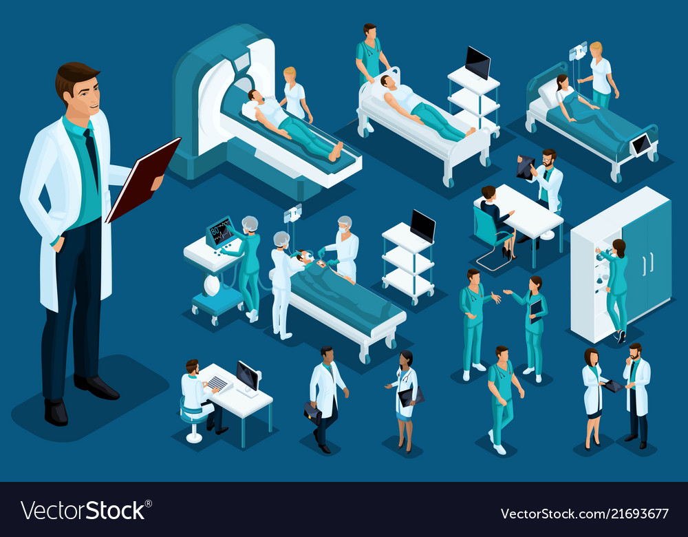 Isometrics medicine doctor with a history