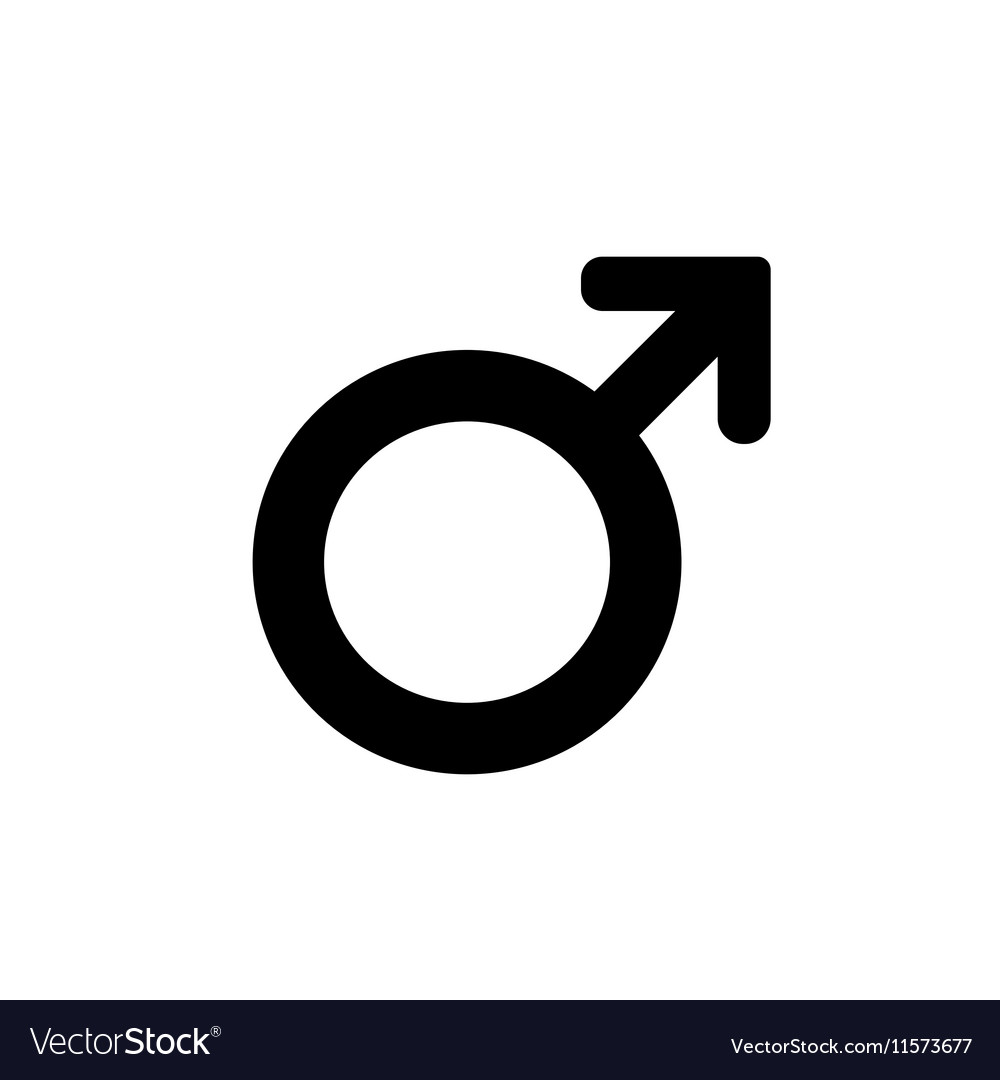 Male sign icon Internet button on white background