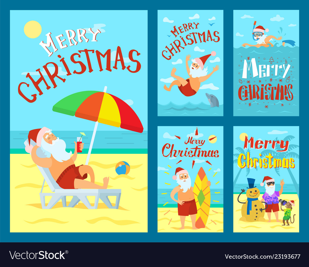 Merry christmas santa claus holidays adventures
