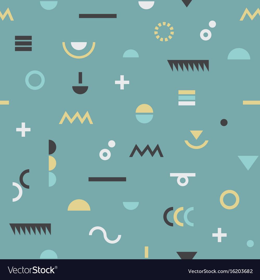 Abstract retro geometrical modern symbols pattern
