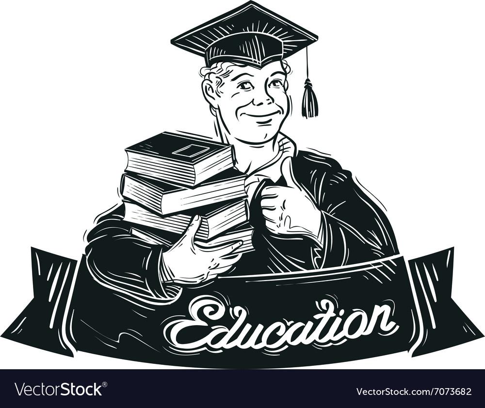Education logo design template school