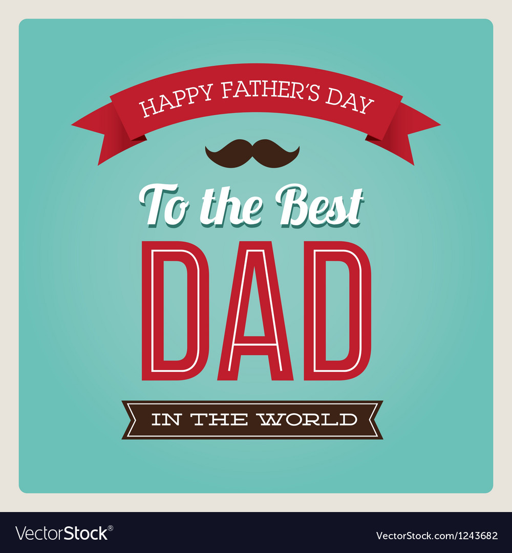 Fathers day card typo