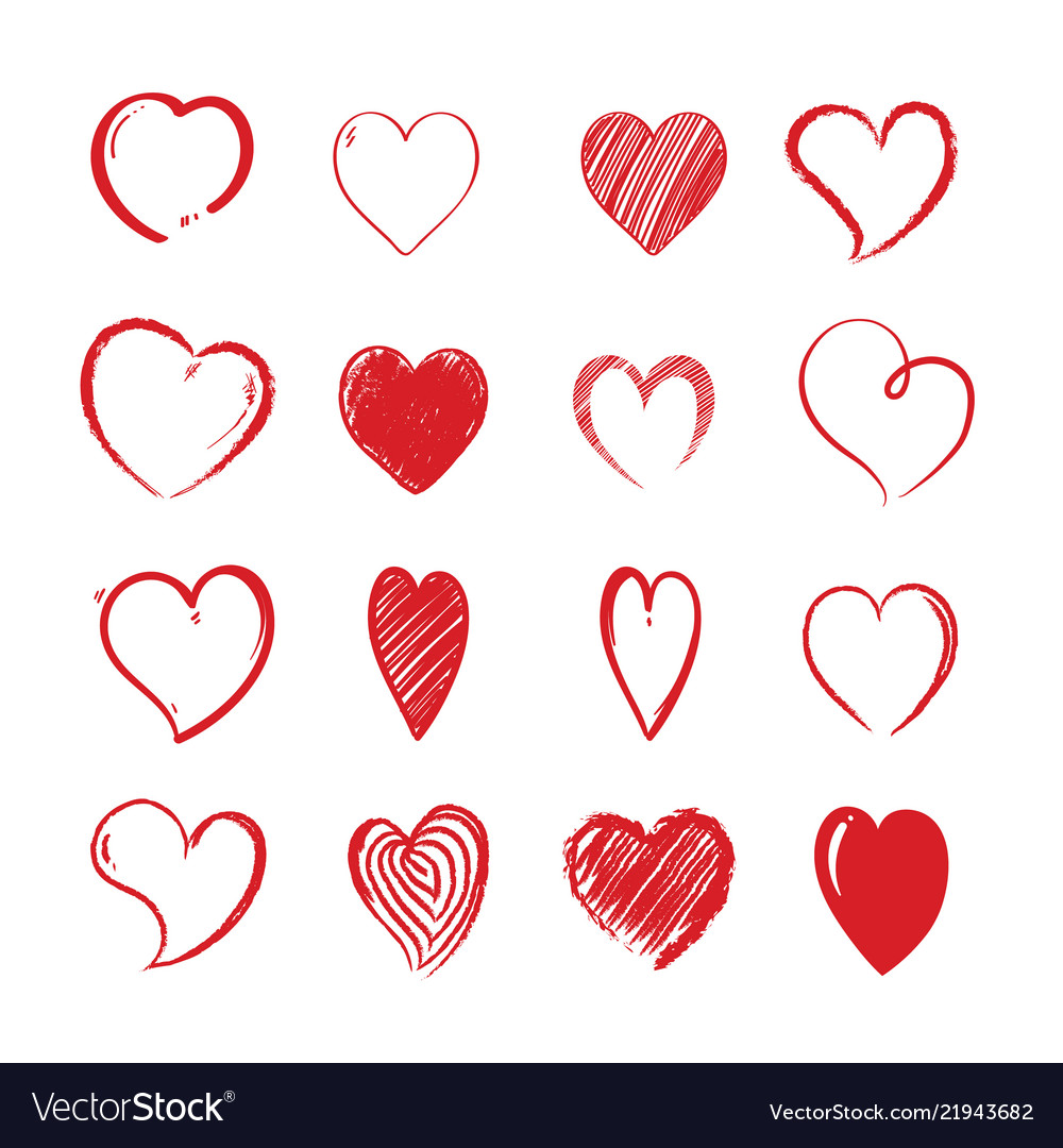Love hearts shapes decorative valentines day vector