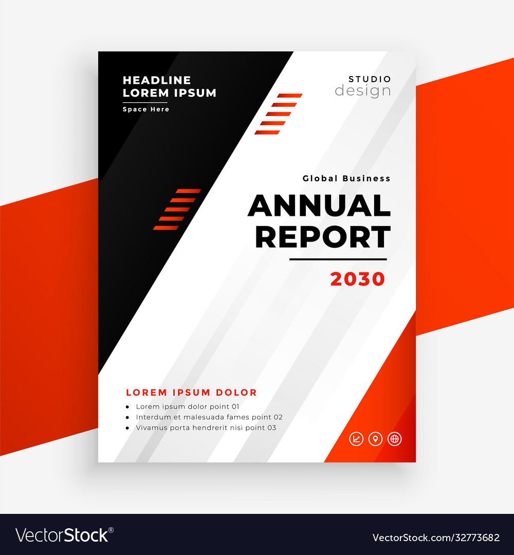 Stylish annual report business brochure in red