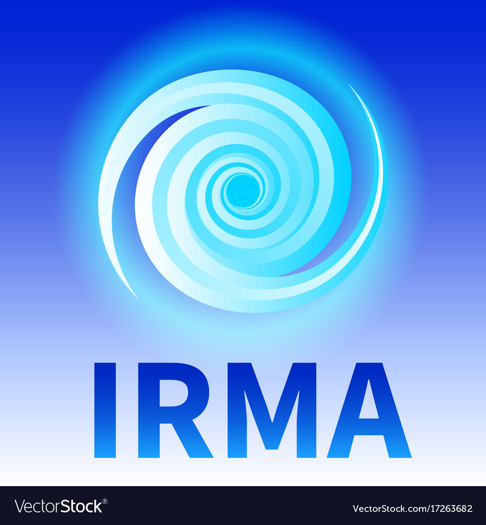 Symbol of hurricane irma