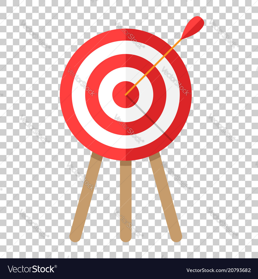 target aim icon in flat style darts game on vector image target aim icon in flat style darts game on vector image